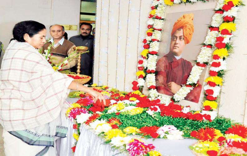 Mamta Banerjee paid homage to Swami Vivekananda...