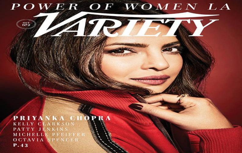 Priyanka redefines elegance on the new variety cover
