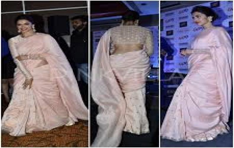 Deepika Padukone-  Saree Avatar looking beautiful in India's National attire