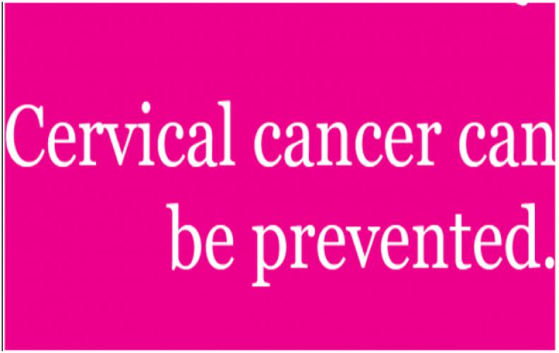 In women cervical cancer can be prevented, just get the vaccination done