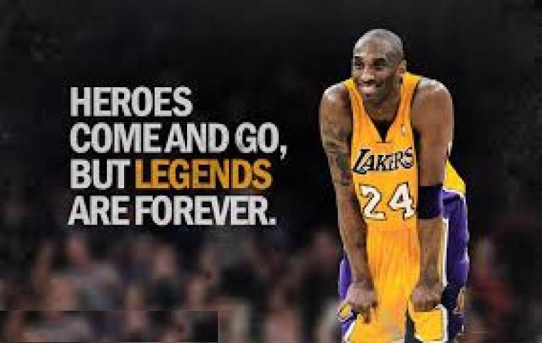 Kobe Bryant a synonym of NBA wore Jersey numbers 8 and 24 are retired as tribute to him