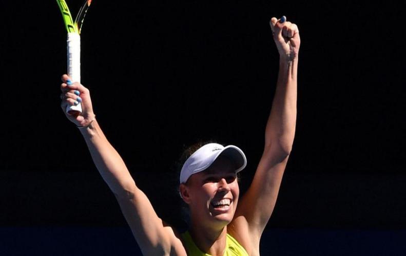 Caroline Wozniacki defeats Jana Fett at Australian Open 2nd round match in a very close fight match.