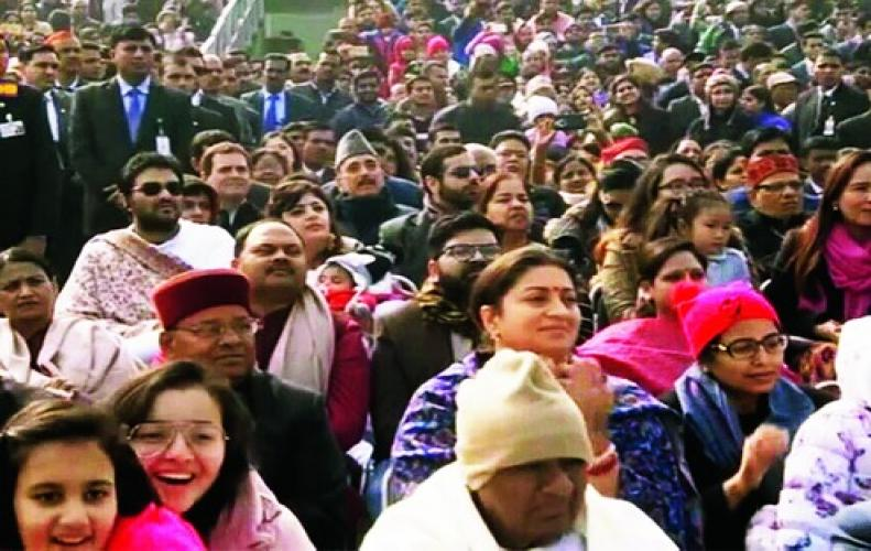 Rahul Gandhi humiliated by Modi by seating him behind Smriti Irani