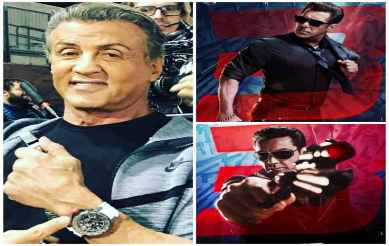 Sylvester Stallone promotes Salman khan's Race 3 poster while repaying Stallone's favor