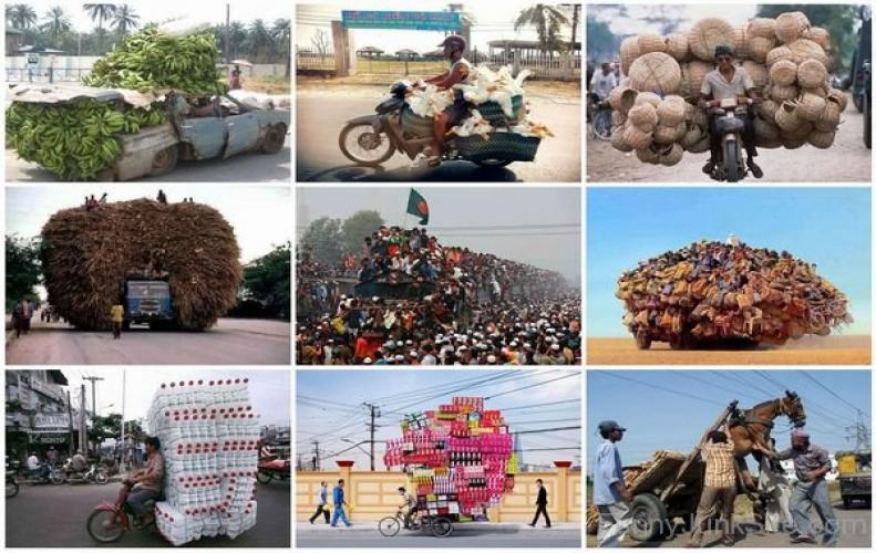 Some Hilarious Pictures of Overloaded Vehicles that will Make Your Day