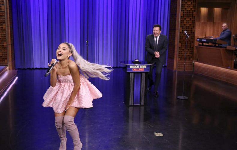 Ariana Grande announces Sweetener for summers, Performs No tears left to Cry.