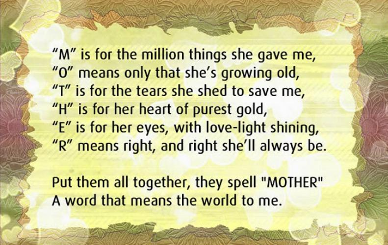 Quotes for Mother's Day - Dedicate to Your Mother and Make Feel Her Special
