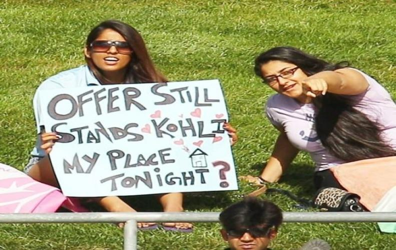 Creativity at its peak in posters among cricket fans that show their love for the game.