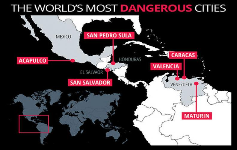 Most Dangerous Cities in the World that are Too Unsafe to Live