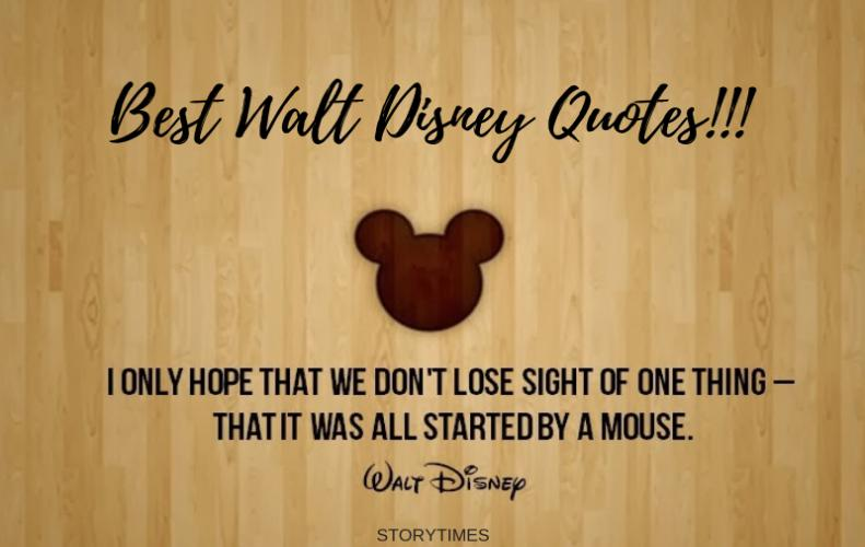 Most Inspirational Walt Disney Quotes