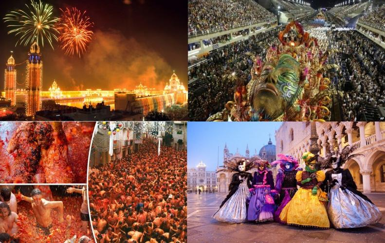 Most Popular Festivals from All Over the World | The List of Top 10