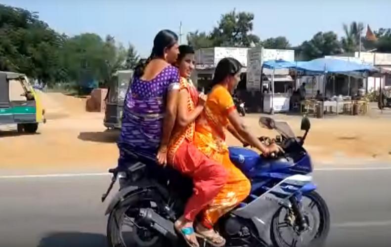 यामाहा बाइक पर इस लेडिज की रेसिंग देखकर आप ही भी कहेगे ओ माय गॉड....
