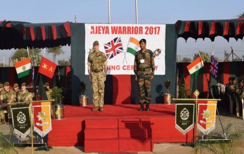 भारत और ब्रिटेन सेना का संयुक्त युद्धाभ्यास हुआ समाप्त
