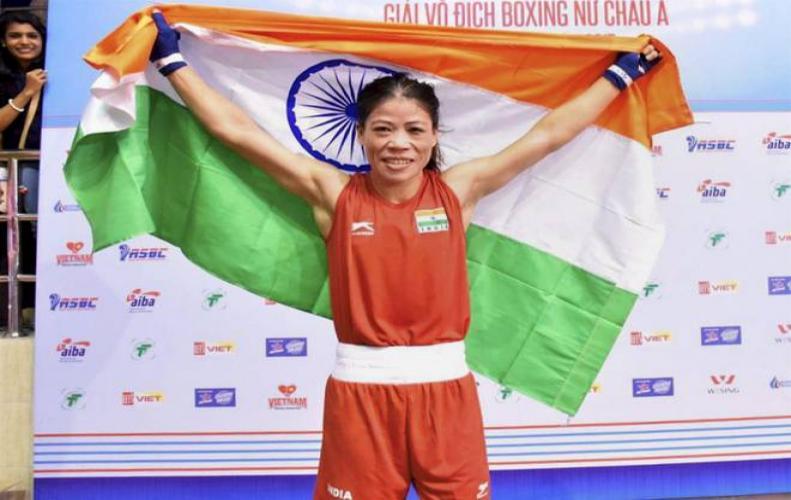 बॉक्सिंग में गोल्ड जीतने वाली पहली भारतीय महिला बनीं मैरीकॉम