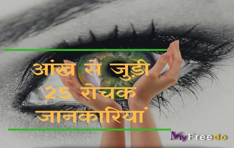 आंख से जुड़ी 25 रोचक जानकारियां | 25 Interesting Information About Eye in Hindi