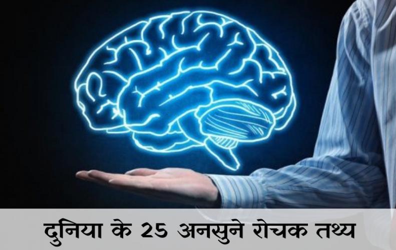 दुनिया के 25 अनसुने रोचक तथ्य | Unbelievable Interesting Facts In Hindi