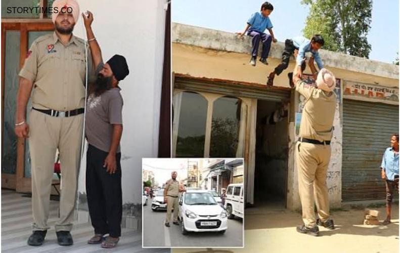 दुनिया का सबसे लंबा पुलिस जवान साइज के जूते भी आते है अमेरिका से | Jagdeep Singh Policeman In Hindi